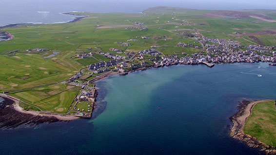 Aerial view of Orkney