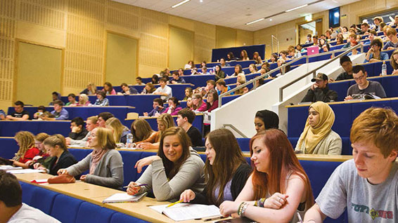 Students at the Edinburgh Campus in a lecture