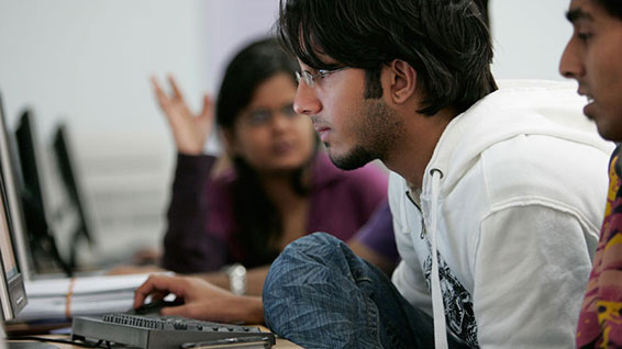 Dubai Campus student at computer
