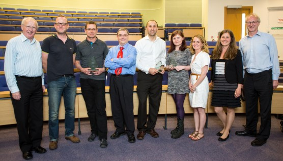 Winners and particpants at engaging researcher day 2014