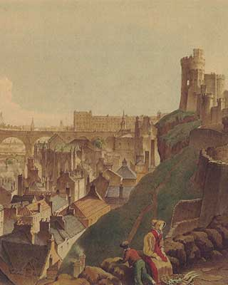 1821 view from South Bridge, Edinburgh
