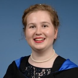 Catriona Salvini, graduating with an MEng in Structural Engineering