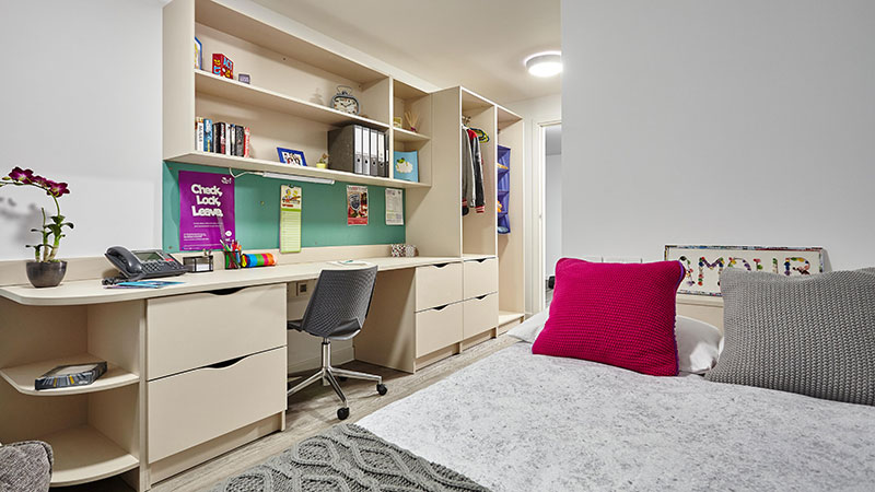 Undergraduate self-catered room with en suite in a shared flat