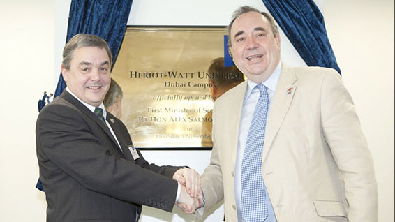 Professor Steve Chapman, Principal of Heriot-Watt University, and�First Minister Alex Salmond�(photo courtesy of the Scottish Government)