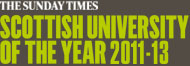 The Sunday Times Scottish University of the Year 2011-13