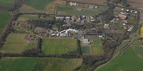 Aerial photo of the Edinburgh Campus