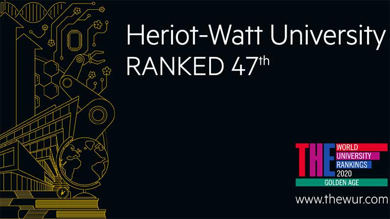 Heriot-Watt remains in world's top 50 universities