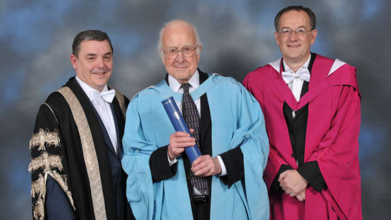 Higgs Boson Scientist Awarded Heriot-Watt honorary degree