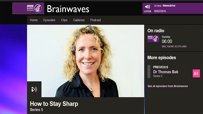 Dr Alan Gow on BBC Radio Scotland - What Keeps You Sharp?