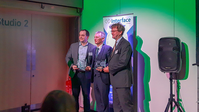 Professor David Flynn named Knowledge Exchange Champion at Interface Awards