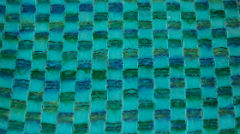 Green and blue checked textile