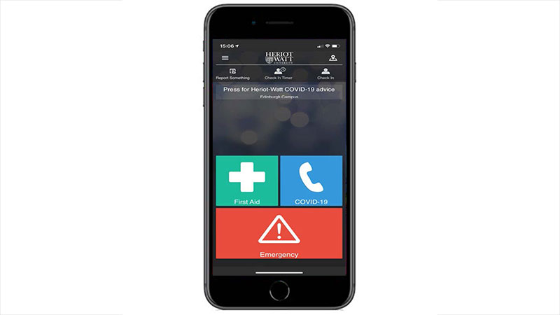 Mockup of SafeZone app on a mobile phone
