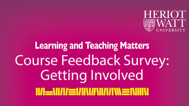 Course Feedback Survey | Heriot-Watt University